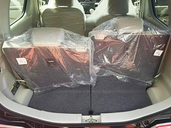 ワゴンRの荷室スペース
