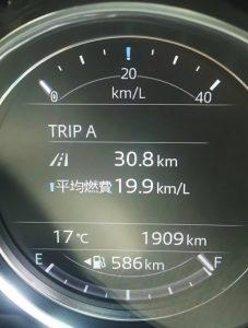 CX-5ディーゼル山道の実燃費19.9km/L