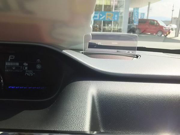 ワゴンRスティングレーのヘッドアップディスプレイ