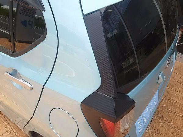 新型ミライースのカーボン調デザイン