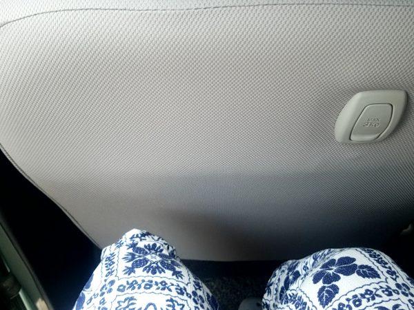 """トコットX""""SAⅢ""""後部座席に座った時の膝回り"""