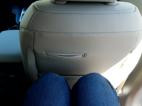 クラリティPHEVの後部座席に座った時のひざ周り