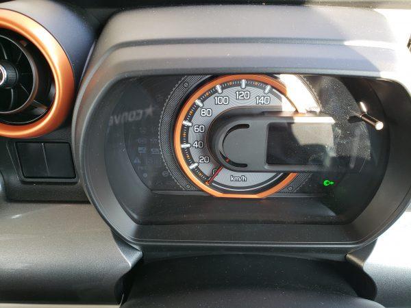 スペーシアギア「XZターボ」のスピードメーター