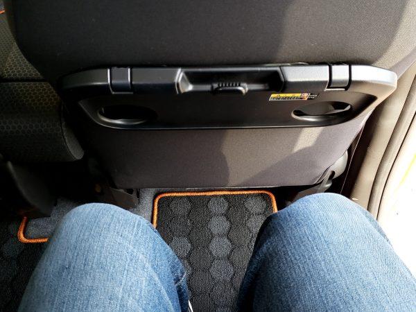 スペーシアギア「XZターボ」後部座席の膝回り