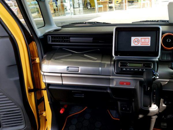 スペーシアギア「XZターボ」の助手席側ダッシュボード