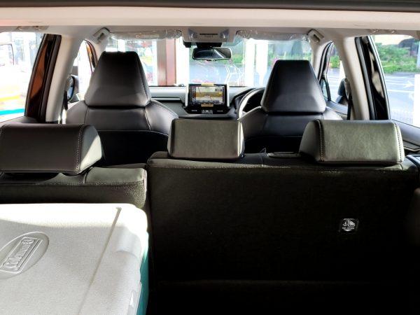 RAV4の後部座席からの画像
